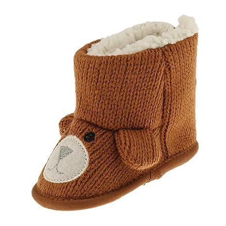 Sharplace Zapatos Antideslizantes Lana para Bebés Grueso Suave Botas de Nieve para Niños Cómodo - 0