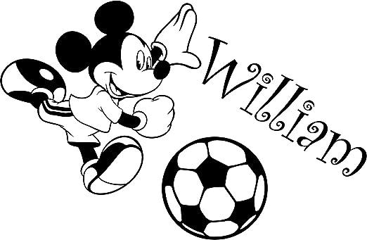 Mickey Mouse con su nombre elegido 60 cm x 40 cm elegir color 18 colores en