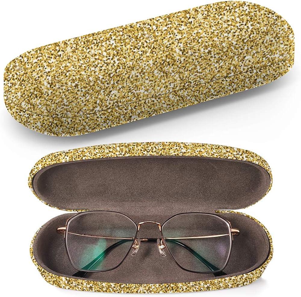 Art-Strap Custodia rigida per occhiali da sole Texture Glitter Stars custodia per occhiali in plastica con panno per la pulizia degli occhiali