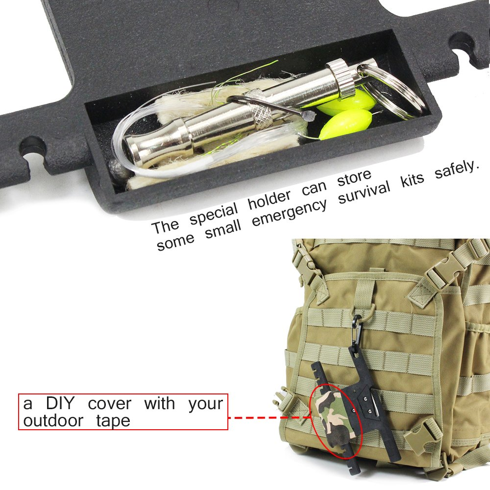 PSKOOK Spool Tool Paracord Organizer with Tidy Holder Parachute Cord Winder Paracord