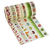 6pcs Washi Masking Tape Collection Sticker Paper, Marrywindix 6x Decorative Masking Adhesive Tape Scrapbooking DIY