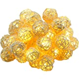 Dailyart 13.78ft 40LED Luci Della Stringa In Rattan Ball / Stringa di Luce Fairy (Warmwhite)