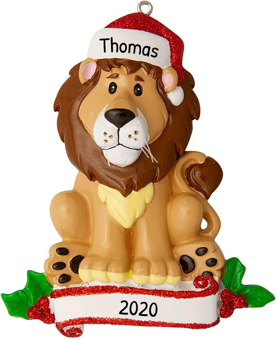 Cubs 2020 Christmas Ornament Amazon.com: Personalized Lion Zoo Animals Christmas Tree Ornament