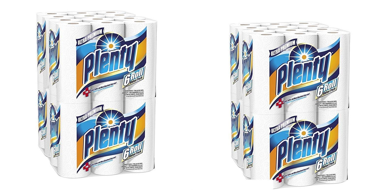 Amazon.com: Plenty Ultra Premium Full Sheet Paper Towels, White, 24 Total Rolls (2 pack): Kitchen & Dining