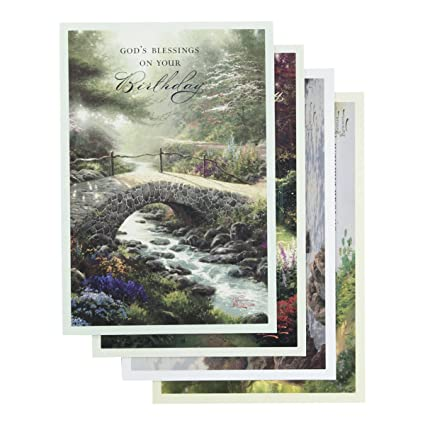 Amazon Dayspring Birthday Boxed Cards Thomas Kinkade