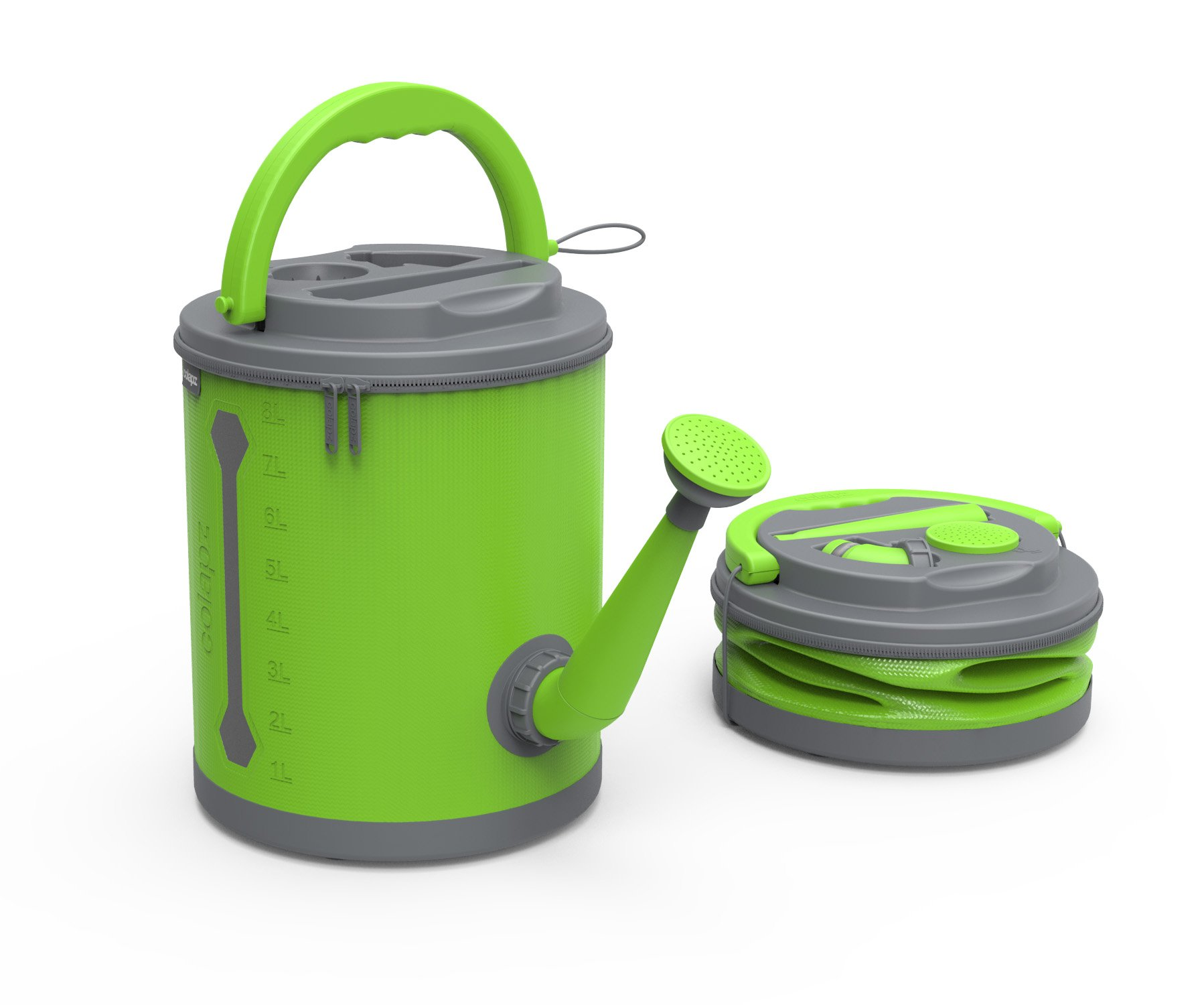 COLOURWAVE Premium Collapsible Watering Can, 2.4-Gallon, Lime Green