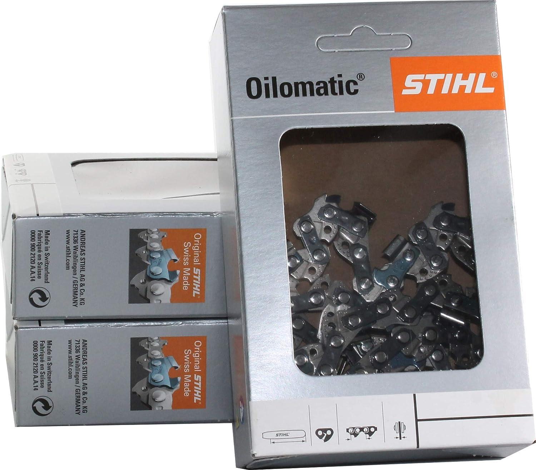 3 Stihl Sägeketten Picco Micro 3//8P-1,1-50 für Stihl 170 35cm 3610 000 0050