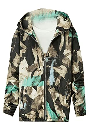 1eb41f71c7b0a Jackets Pandapang Mens Printed Hoodie Coat Baseball Long Sleeve Camouflage  Zip Jacket