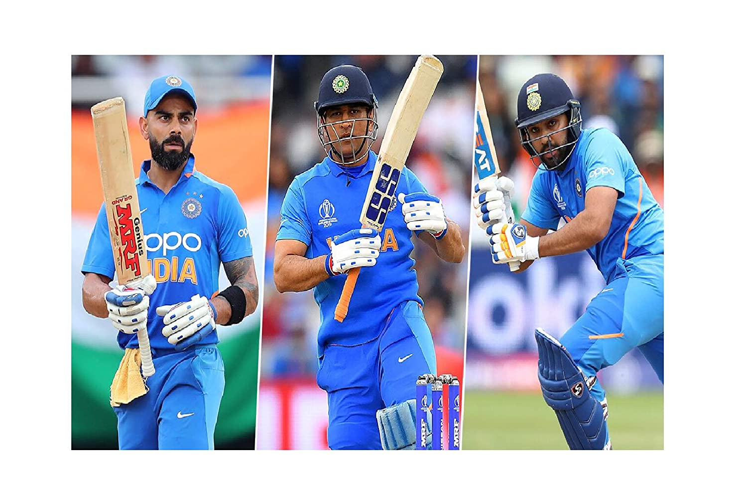 Sign Ever Home Boys And Girls Virat Kohli Ms Dhoni Rohit Sharma India Cricket Players Wall Paper Posters Bedroom Room Office Hd L X H 18 X 12 Inches Multicolour Amazon In Home