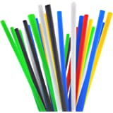 10 Inch Drinking Straws (250 Straws) (10 Inch x 0.28 Inch) (Assorted Colors)
