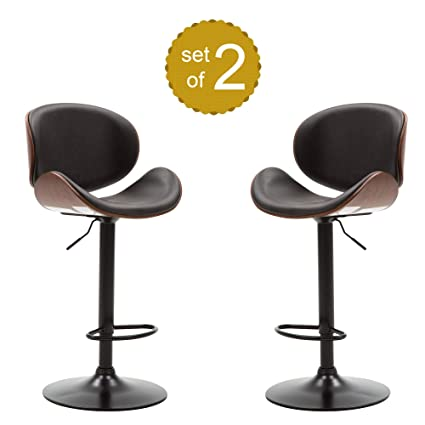 Fantastic Amazon Com P Purlove Swivel Bar Stools Set Of 2 Low Back Unemploymentrelief Wooden Chair Designs For Living Room Unemploymentrelieforg