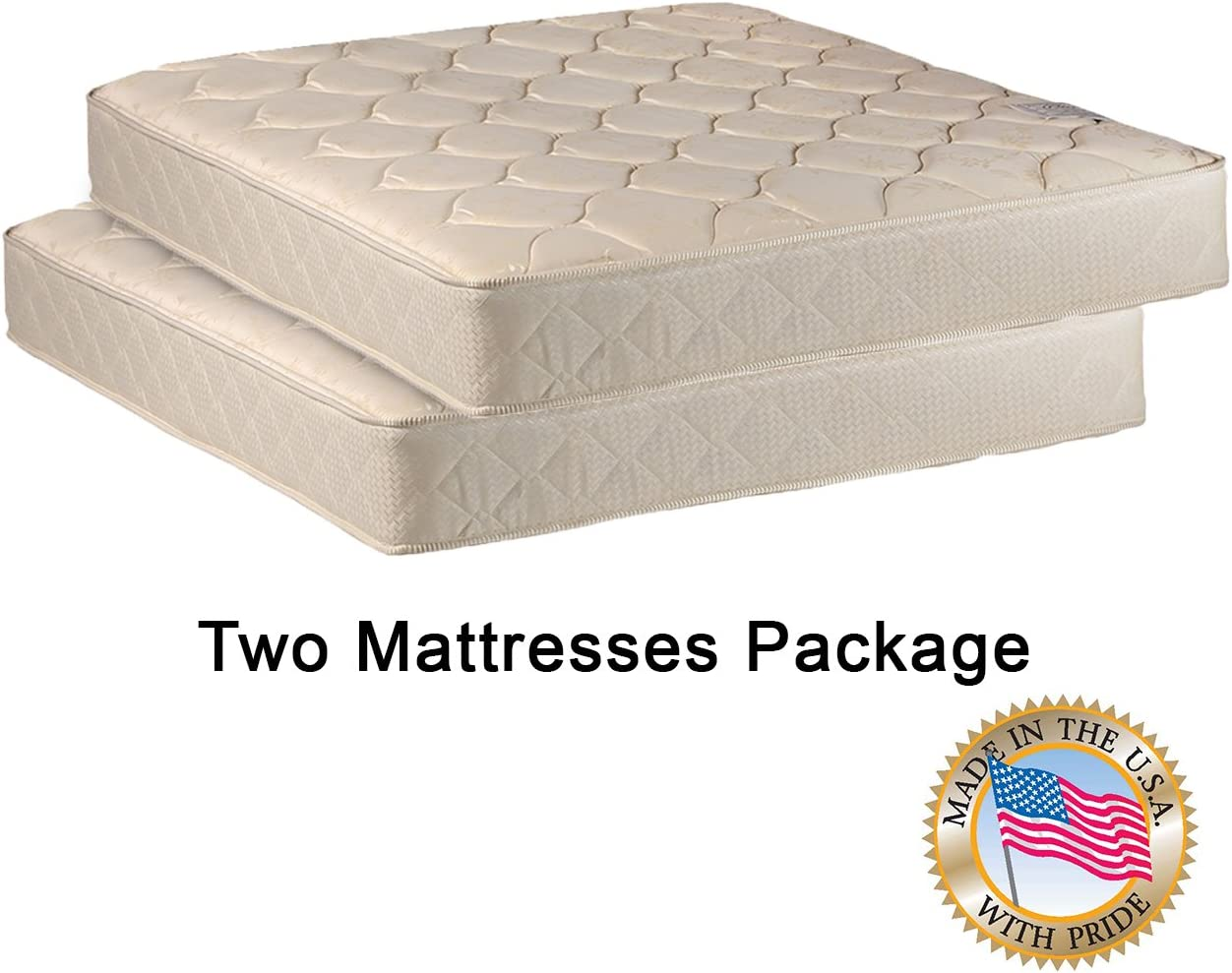 Comfort Bedding Two 33 Mattresses Package for Bunk Bed or Trundle Bed