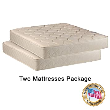 Amazon Com Comfort Bedding Two 33 Mattresses Package For Bunk Bed