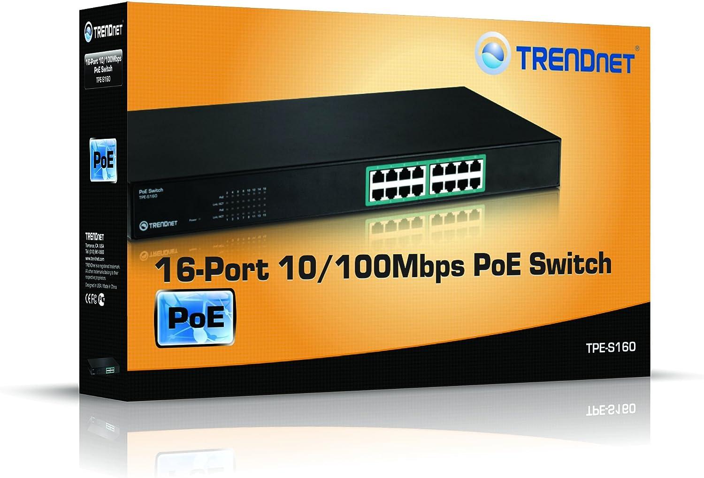 TPE-S80 TRENDnet 8-Port 10//100Mbps PoE Switch