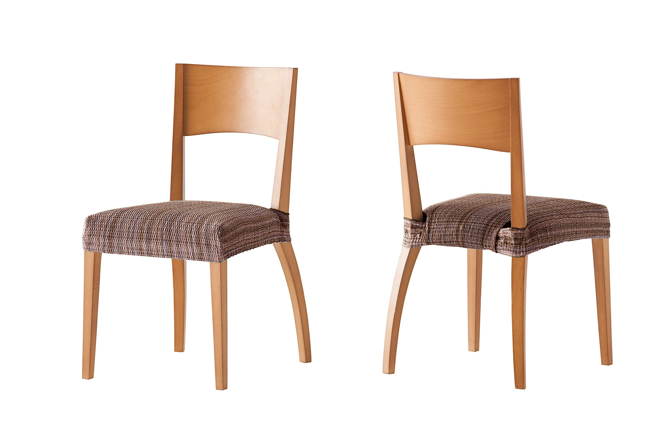 Pack de 2 Fundas de Asiento para silla modelo MEJICO, color MARRÓN, medida 40