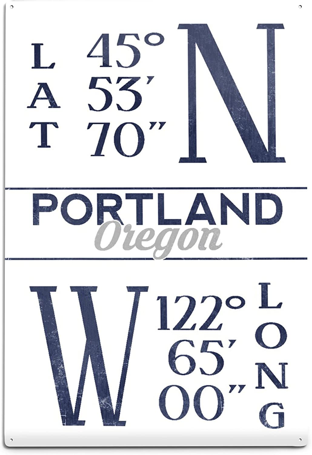 amazon com portland oregon latitude and longitude blue 24x36 giclee gallery print wall decor travel poster wall art portland oregon latitude and longitude blue 24x36 giclee gallery print wall decor travel poster