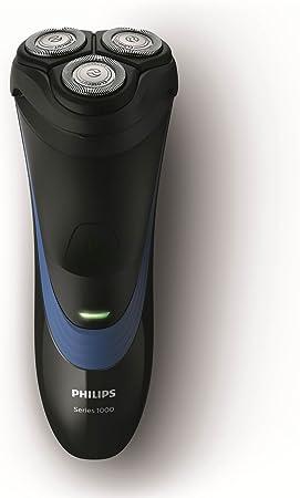 Philips S1510/04 - Afeitadora eléctrica, afeitar con cuchillas CloseCut, uso en seco, sin cable, negro y azul, sólo recargable, 2016