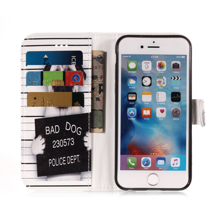iPhone 6S Handy H/ülle Leder Tasche Marble Schwarz Huphant Muster Marble Flip Schutzh/ülle Wallet Case iPhone 6 iPhone 6S Stand Kartenf/ächer Magnet iPhone 6 H/ülle Retro Totemblume