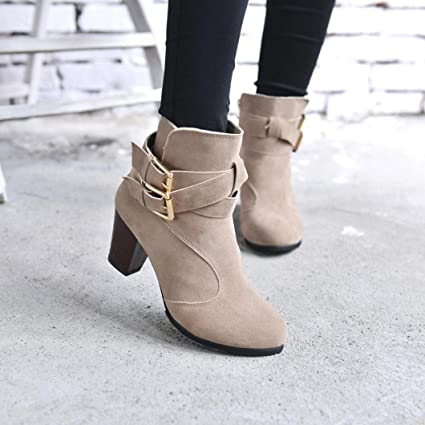 6b9ebd92 Amazon.com: Hemlock Ankle Boots Women, Ladies Winter Dress Boots Zipper  High Heels Booties Shoes Pointed Top Boots: Computers & Accessories