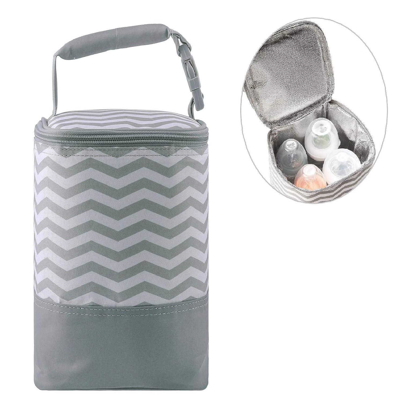 Yuniroom Baby Feeding Bottle Insulation Bag Thermal Bag Keep Warm for Baby Drinking Bottles Milk Bottle Holder Stroller Hanging Supported Style : 06