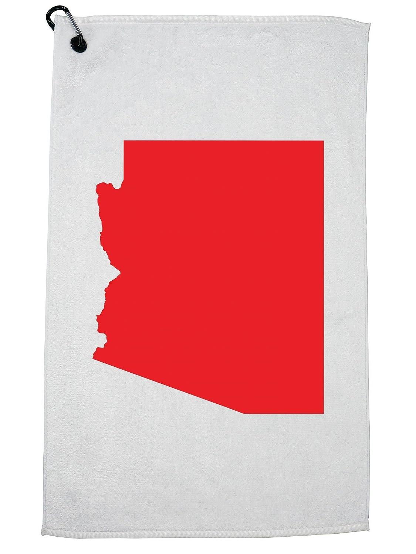 HollywoodスレッドアリゾナレッドRepublican – 選挙シルエットゴルフタオルカラビナ付きクリップ   B07G43ZWCP