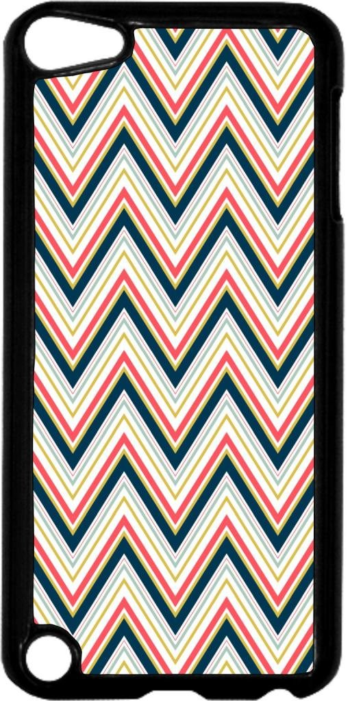 Tight Chevrons- Case for the Apple Ipod 5th Generation-Hard Black Plastic