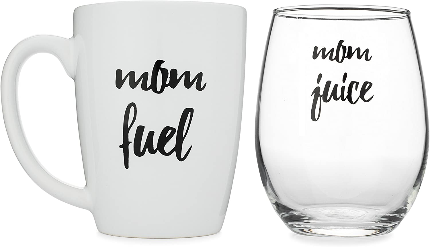 Funny Mom Gift, Stemless Wine and Coffee Mug Set by Wear Tough