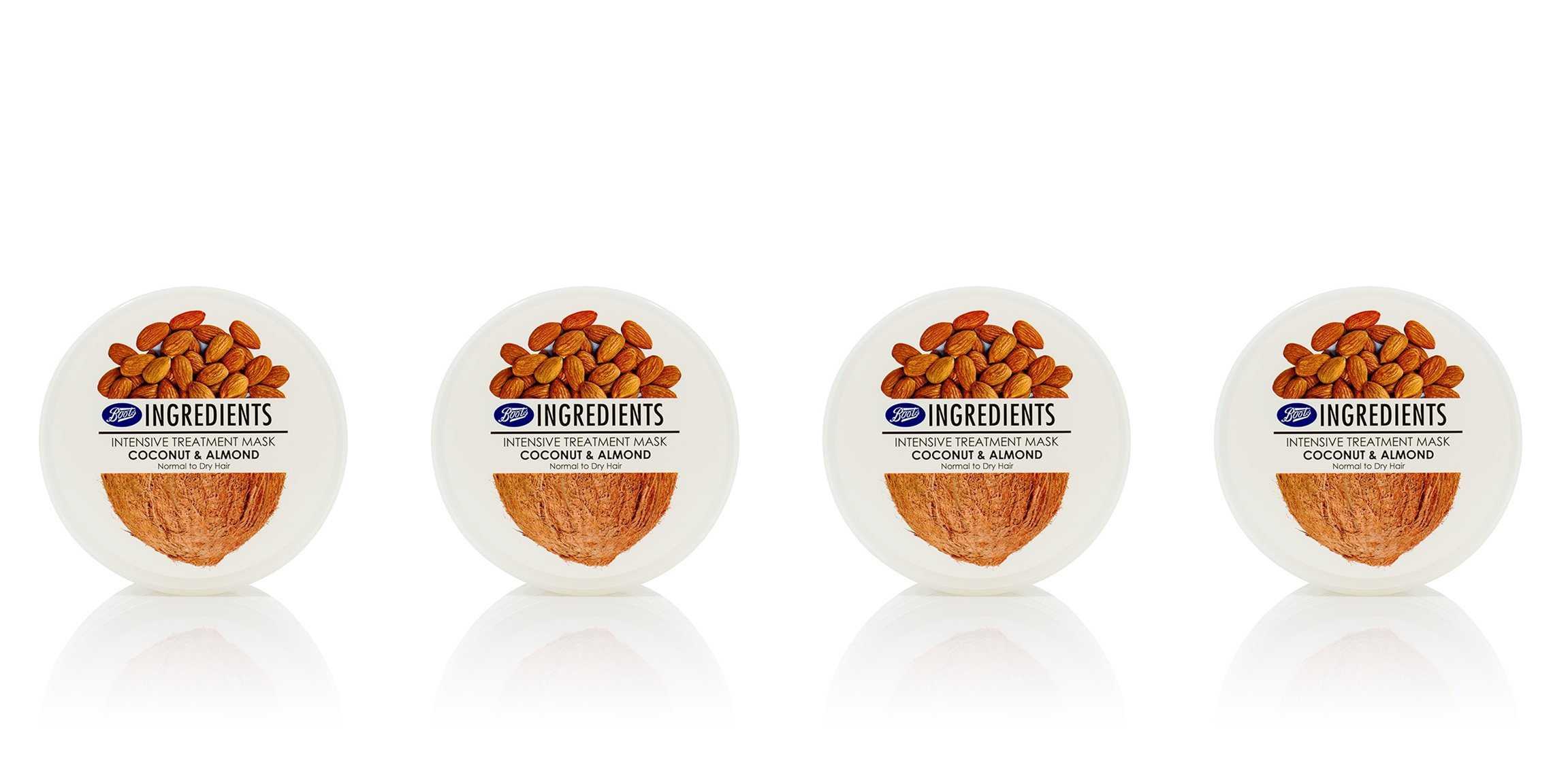 Boots Ingredients Intensive Treatment Mask Coconut & Almond 400 ml. (Pack of 4) by Boots Ingredients (Image #1)
