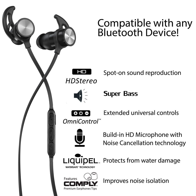 Auriculares Bluetooth LILIKU Cascos Bluetooth magnéticos y ...
