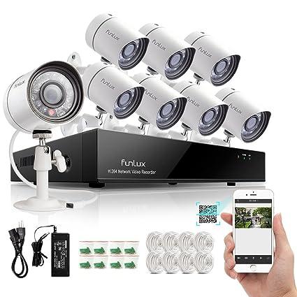Zmodo Outdoor 720P HD 1,000,000 pixels IP netzwek Cámara Vigilancia 8 Cámaras de vigilancia Juego Exterior