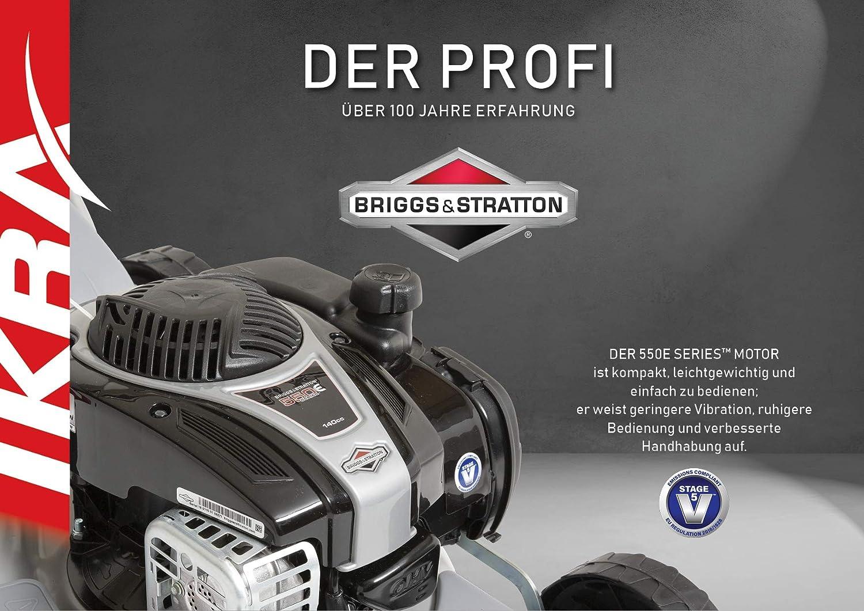 IKRA Benzin 4in1 Rasenm/äher Mulcher IBRM 46S-BS550E Briggs /& Stratton Motor Schnittbreite 45,6cm