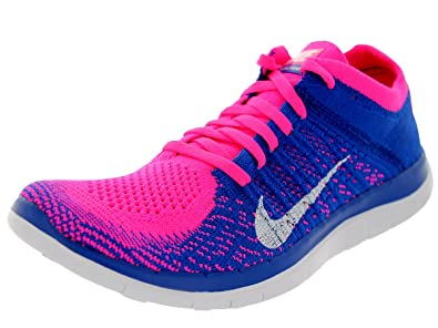 super popular 1d9f9 cc9a3 Nike Free 4.0 Flyknit Women s Running Shoes, 8.5, Pink Flash white game