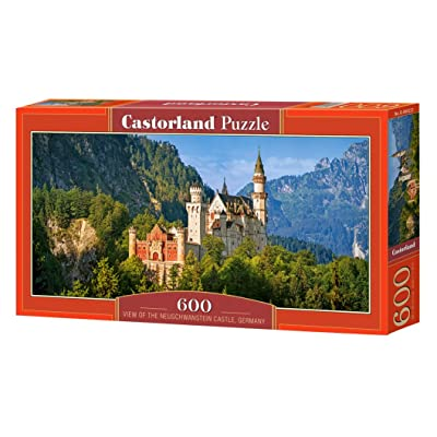 Puzzle View of The Neuschwanstein Castle, Germany 600 Pieces: Toys & Games