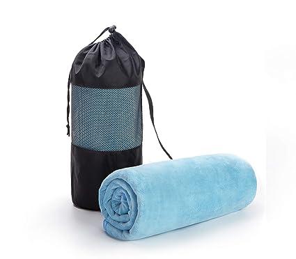 KEYWAY toalla deportiva de microfibra de secado rápido, toalla de gimnasio para natación, viajes, camping, yoga, ...