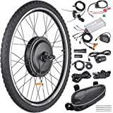 "AW 26""x1.75"" Front Wheel Electric Bicycle Motor Kit 48V 1000W Powerful Motor E-Bike Conversion w/LCD Display"
