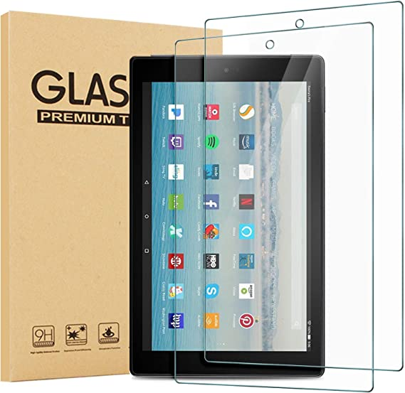 Tempered Glass Screen Protector 2-Pack Amazon Fire 7 Kids Edition 2017//2019