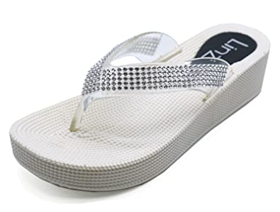 WOMENS SILVER TOE-POST SUMMER SANDALS WALKING COMFY MULES SHOES SIZES 3-8
