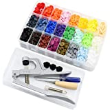 Cooleaf KAM Snaps and Plier Tool, 360 Set T5 Plastic Snaps in 24 Color, Well Packaged Box(Snaps and Tool Package)