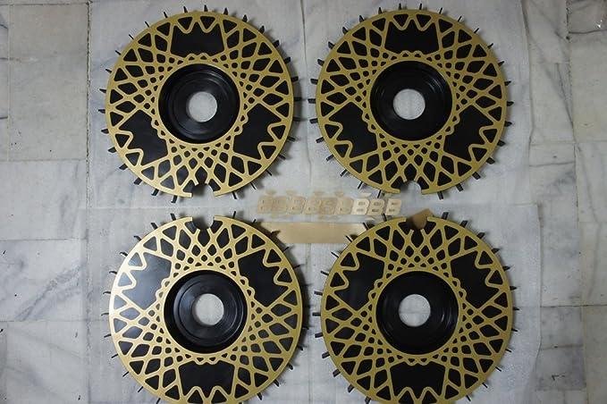 BBS RS turbofán réplicas Turbo ventiladores bremsenlüfter rueda ventiladores turbolüfter lüfterräder negro (58 mm, Negro): Amazon.es: Coche y moto