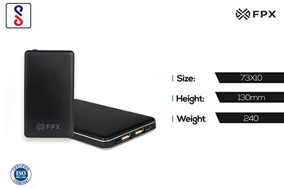 FoxProx FX 10000 43 10000mAH Lithium Polymer Power Bank  Black