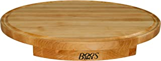 product image for John Boos Block CCS24180125 Corner Counter Saver Maple Wood Oval Cutting Board with Juice Groove, 24 Inches x 18 Inches x 1.25 Inches