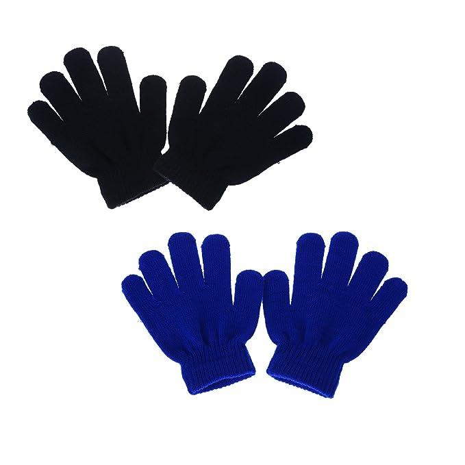 Amazon.com: Cren - 2 pares de guantes elásticos de invierno ...
