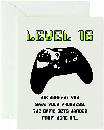 Wirebird Design - Tarjeta de cumpleaños para Xbox One (16 años de ...