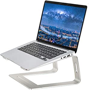 StationaryLab Laptop Stand,Aluminum Laptop Mount Computer Stand,Ergonomic Stand for Desk,Detachable Laptop Riser Notebook Holder Stand Compatible with MacBook Air Pro, Dell XPS, 10-17