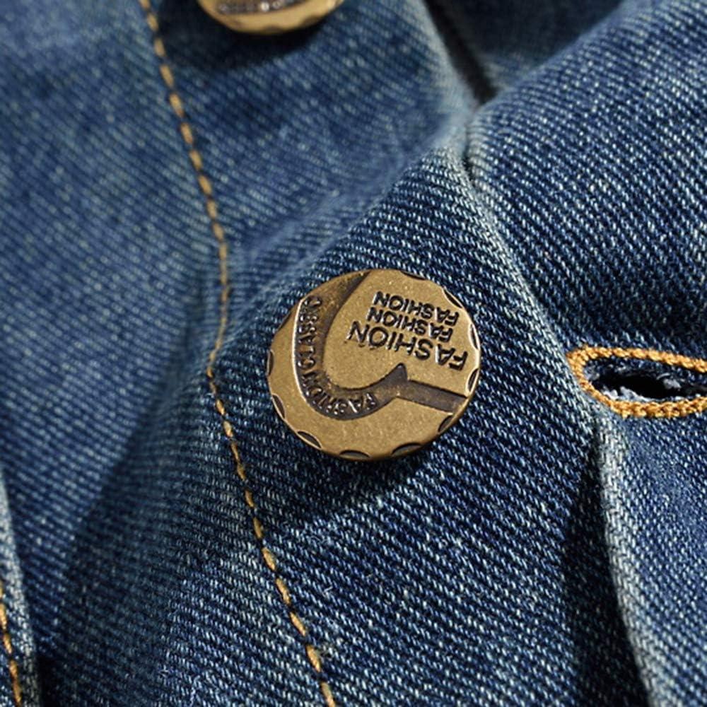 Heflashor Herren Jeansweste Basic Stretch Destroyed Vintage Denim Weste Stehkragen /Ärmellos Jeansjacke Zerrissen Sommerjacke Biker Outwear Cowboy Westen mit Amerikanische Flagge
