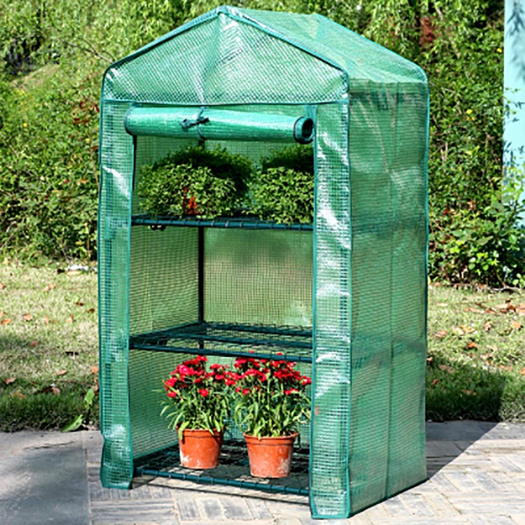 C ZCCWS 3 layers of small plastic greenhouse, succulent green potted potted greenhouse shed greenhouse greenhouse (color   C)