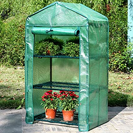 Amazon.com: ZCCWS - Invernadero de 3 capas de plástico ...