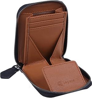 c244cfd9728e [レガーレ] 小銭入れ カーボンレザー ラウンドファスナー コインケース メンズ レディース 小さい財布 プレゼント