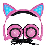 Amazon Price History for:Barsone Wired Cat Ear Kids Headphones,Flashing Glowing Cosplay Fancy Foldable Over Ear Headsets with Led Light Up / 3.5mm Earphone for Kids,Children,Girls ,Boys (Pink)
