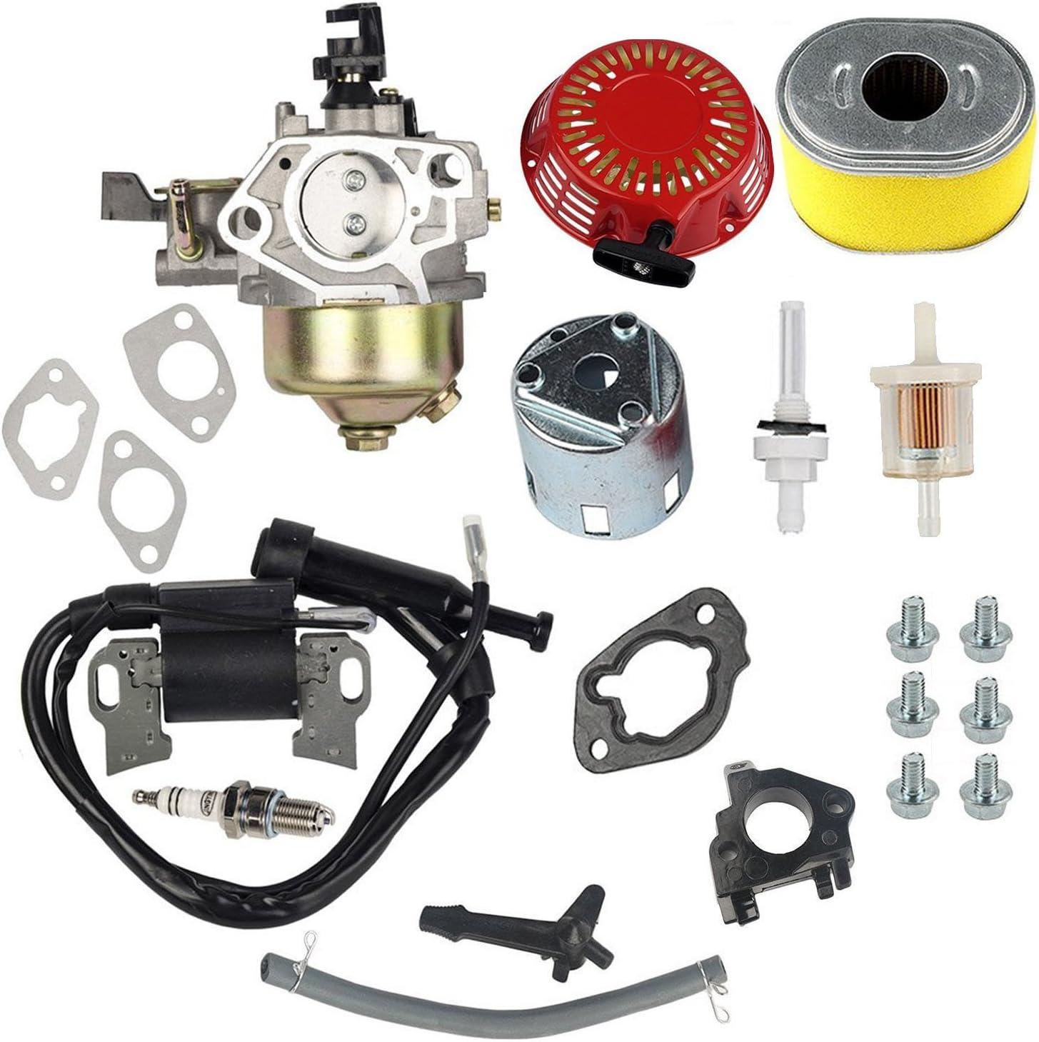 Oxoxo Carburetor Ignition Coil Recoil Starter Spark Plug Air Filter Fuel Filter Jonit Filter For Honda Gx340 Gx390 11hp 13hp Engine Lawn Mower Garten